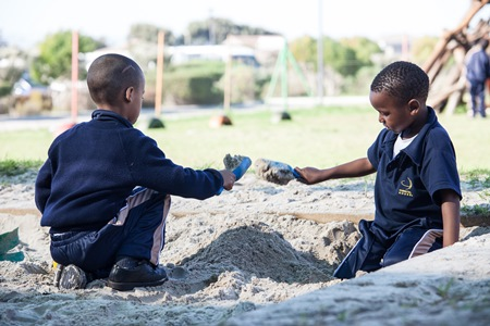 Children playing in a sandpit